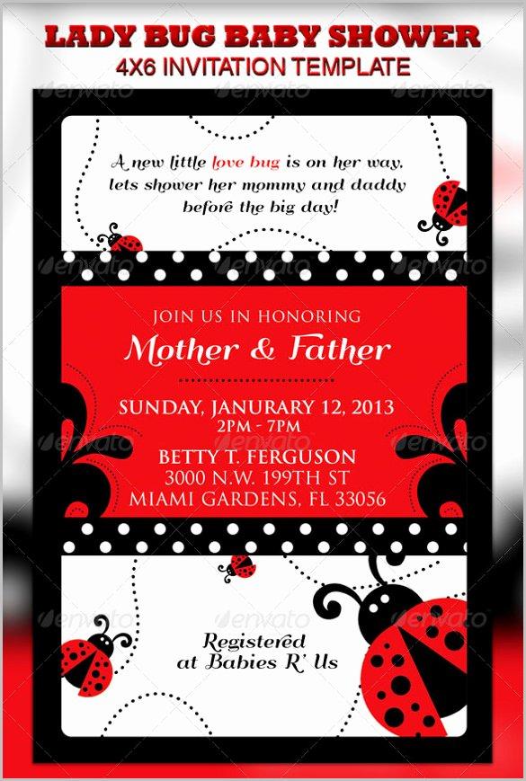 Ladybug Invitations Template Free Lovely 63 Ticket Invitation Templates Psd Vector Eps Ai