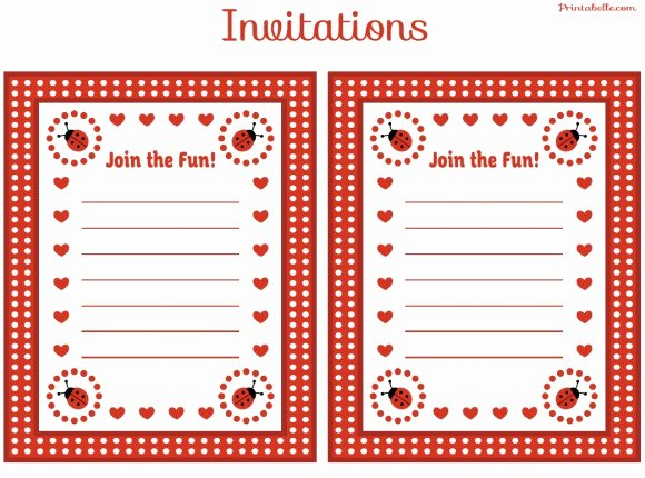 Ladybug Invitations Template Free Lovely Free Ladybug Party Printables From Printabelle