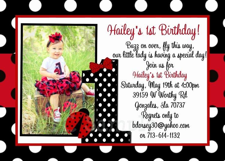 Ladybug Invitations Template Free Lovely Ladybug Birthday Invitation