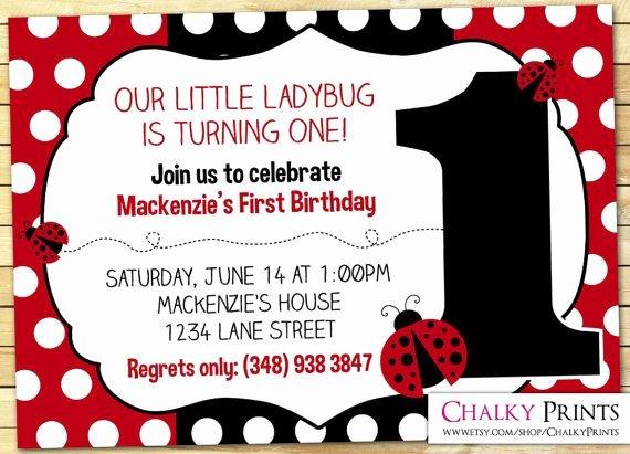 Ladybug Invitations Template Free Luxury 17 Best Ideas About Ladybug Invitations On Pinterest
