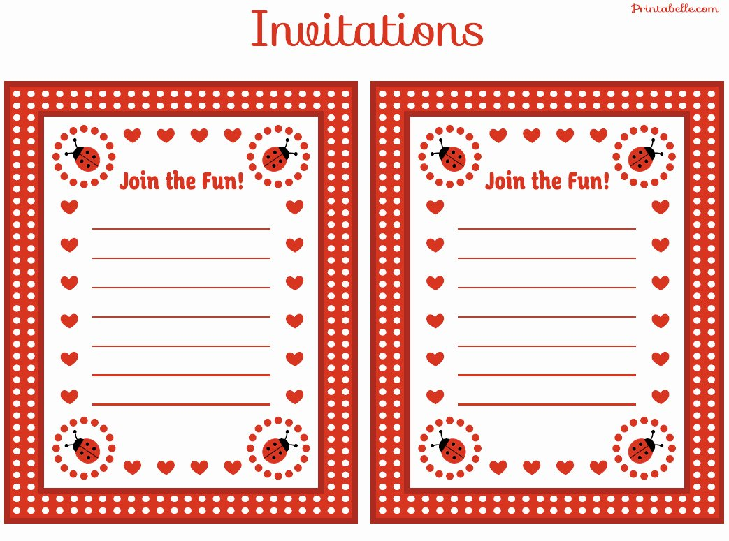 Ladybug Invitations Template Free Luxury Free Ladybug Party Printables From Printabelle