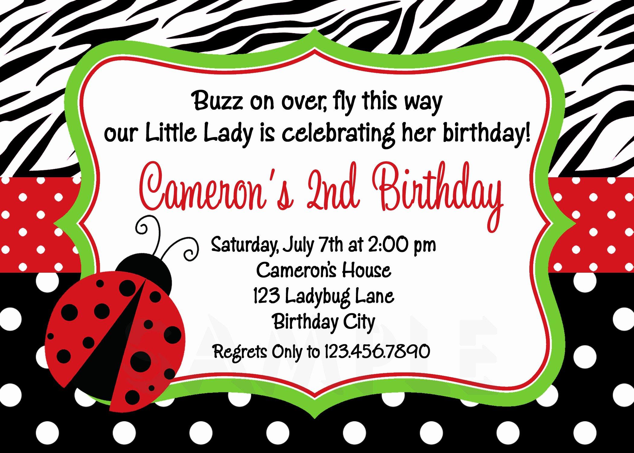 Ladybug Invitations Template Free Luxury Printable Birthday Invitations Ladybug First Party Red