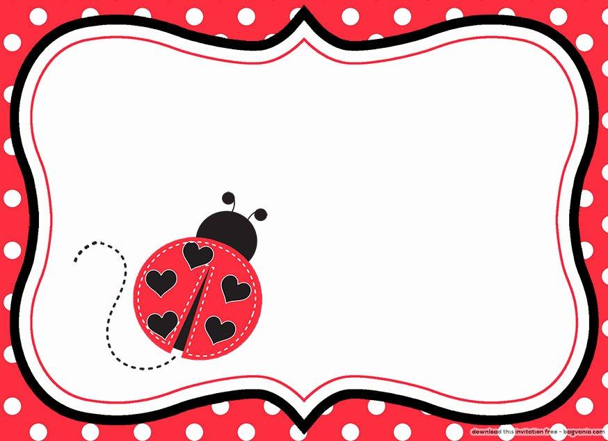 Ladybug Invitations Template Free Unique Free Printable Ladybug Birthday Invitations – Free