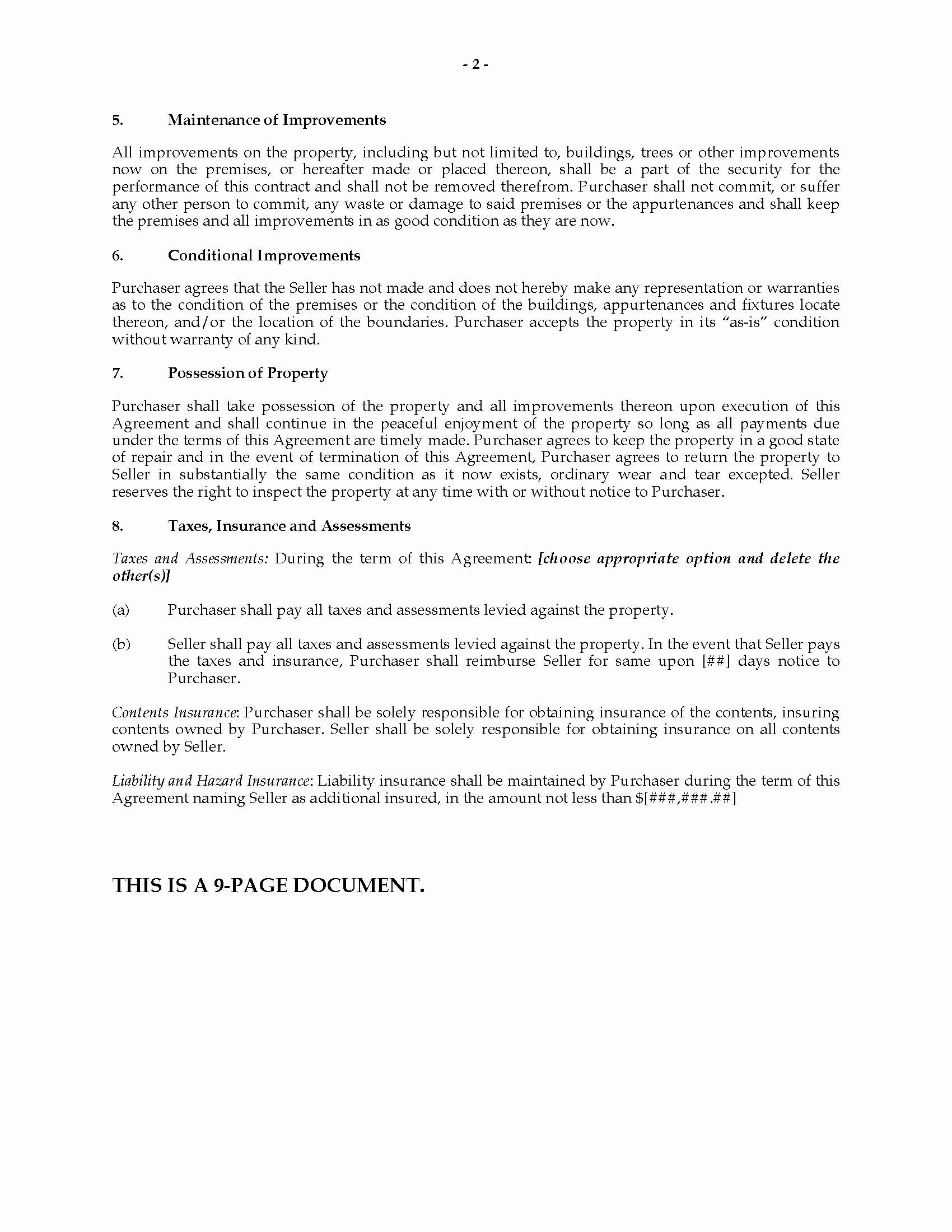 Land Contract Template Ohio Luxury Ohio Installment Land Contract