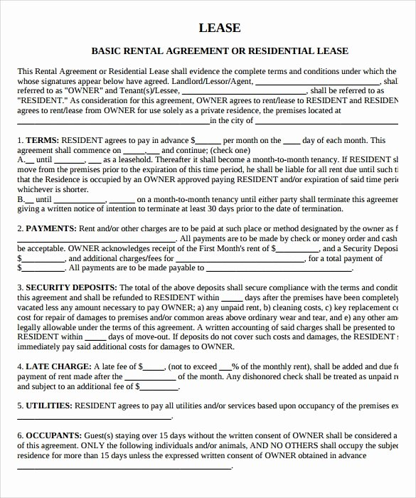 Land Lease Agreement Template Awesome 9 Property Lease Agreement Templates to Download for Free