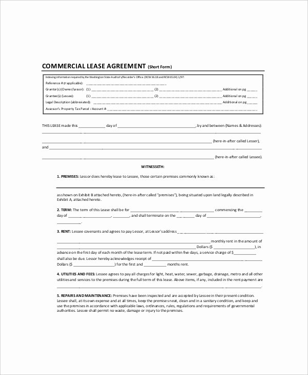 Land Lease Agreement Template Lovely 7 Land Lease Templates Free Sample Example format