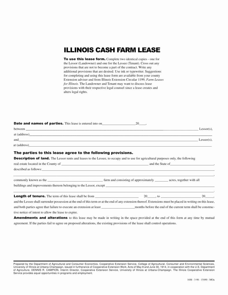 Land Lease Agreement Template Lovely 8 Farm Lease Agreement Templates Pdf