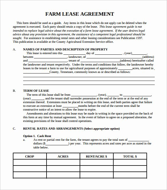 Land Lease Agreement Template Unique 6 Simple Lease Agreement Templates In Pdf to Download