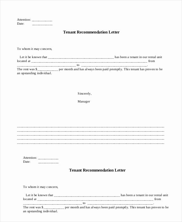 Landlord Reference Letter Template Best Of Landlord Reference Letter 5 Free Sample Example