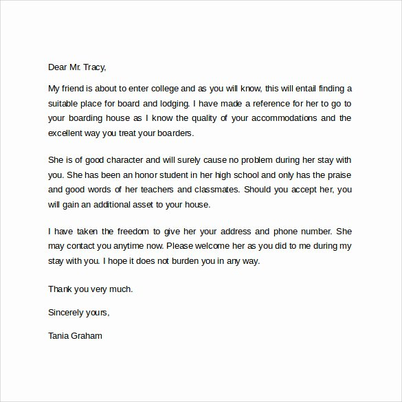 Landlord Reference Letter Template Inspirational Landlord Reference Letter Template 10 Samples