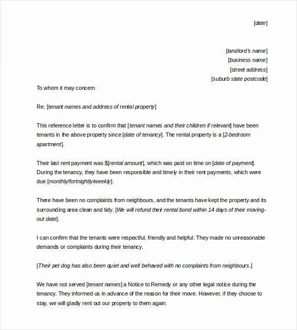 Landlord Reference Letter Template Lovely 19 Reference Letter Templates Doc Pdf