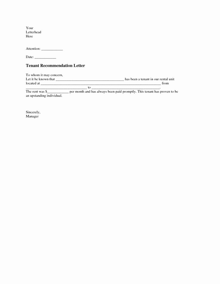 Landlord Reference Letter Template Luxury Pinterest • the World's Catalog Of Ideas