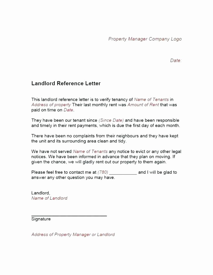 Landlord Reference Letter Template Luxury Reference Letter for Apartment – Hammadhasanfo
