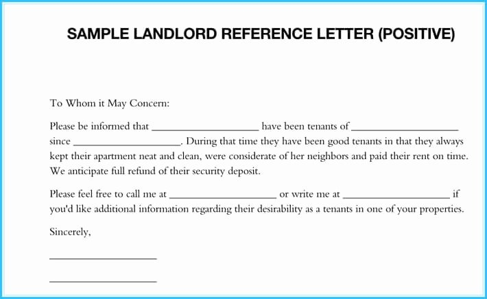 Landlord Reference Letter Template Unique 5 Sample Landlord Reference Letters What is It & How to
