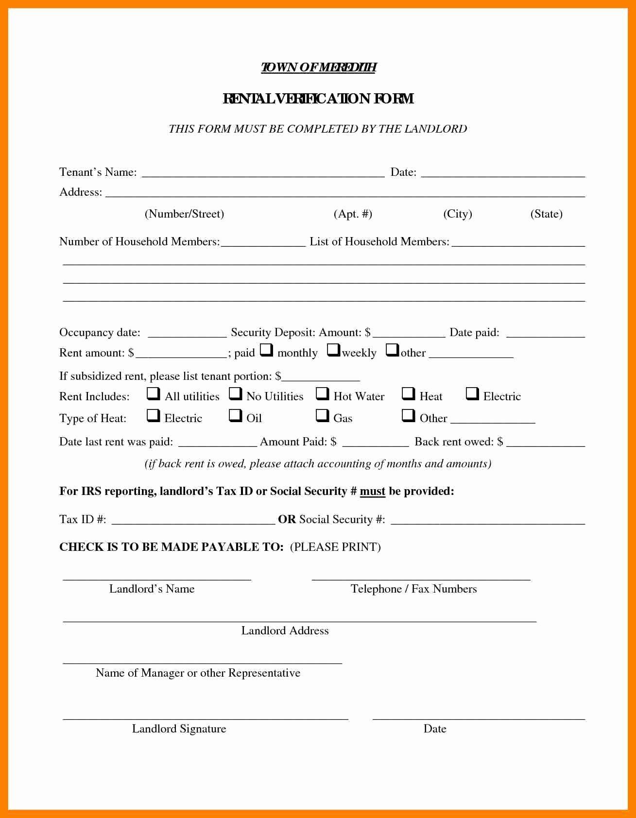 rent verification letter sample