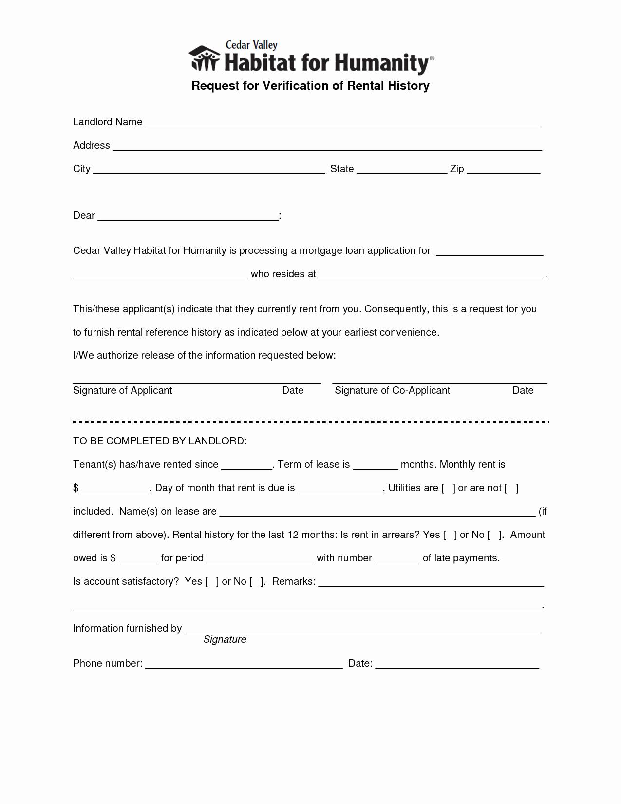 Landlord Verification form Template Fresh Best S Of Landlord Verification form Free Rental