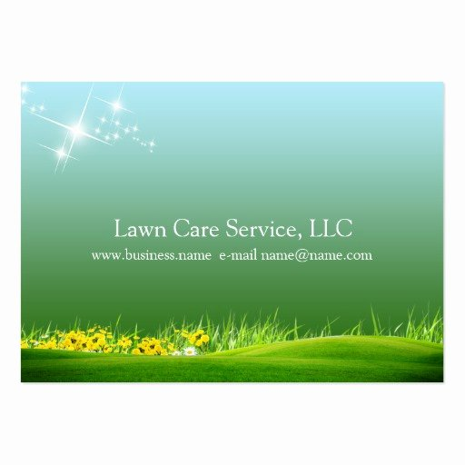 Landscape Business Card Template Awesome Lawn Care Business Large Business Cards Pack Of 100