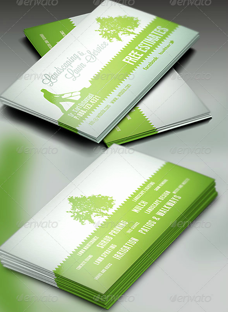 Landscape Business Card Template Beautiful 14 Landscaping Business Card Designs & Templates Psd