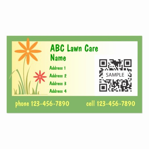 Landscape Business Card Template Beautiful Business Card Template Lawn Care