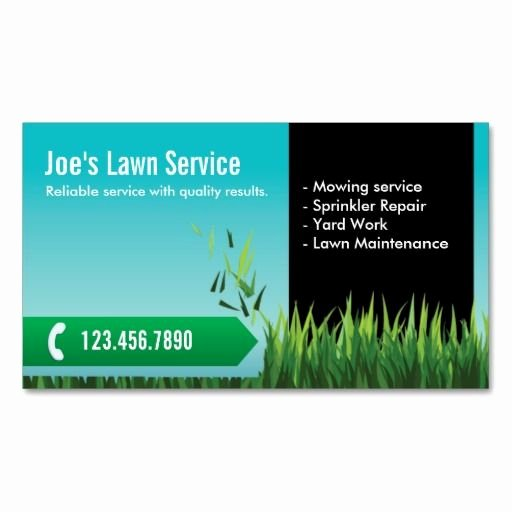 Landscape Business Card Template Beautiful Professional Lawn Care Mowing Landscaping Business Card