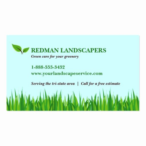 Landscape Business Card Template Best Of Grassy Landscape Business Card Template