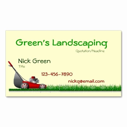 Landscape Business Card Template Elegant 1000 Images About Landscaping Business Cards On Pinterest