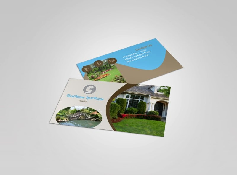 Landscape Business Card Template Elegant Outdoor Landscape Design Business Card Template