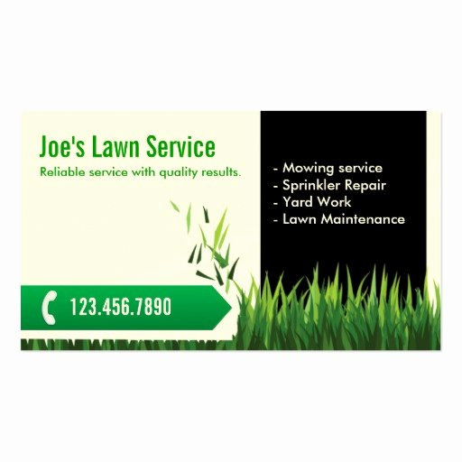 Landscape Business Card Template Elegant Professional Mowing Lawn Care Business Card