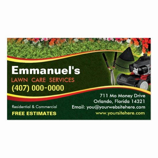 Landscape Business Card Template Lovely Landscaping Lawn Care Mower Business Card Template
