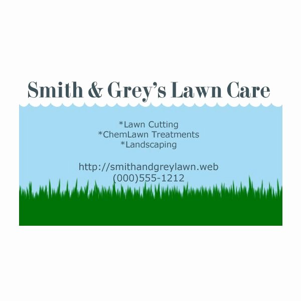 Landscape Business Card Template Lovely Lawn Care Business Cards Five Customizable Templates