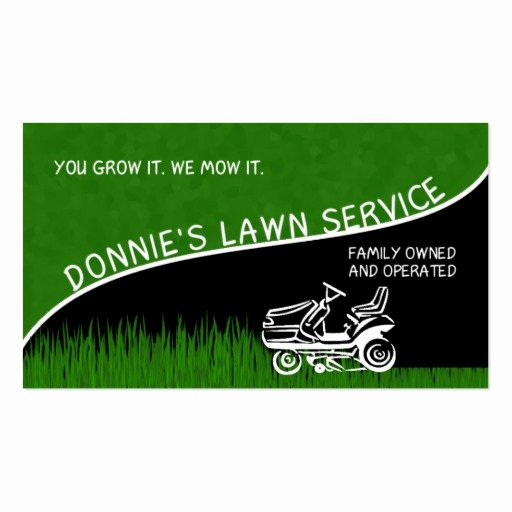 Landscape Business Card Template Luxury Donnie S Lawn Service Double Sided Standard Business Cards