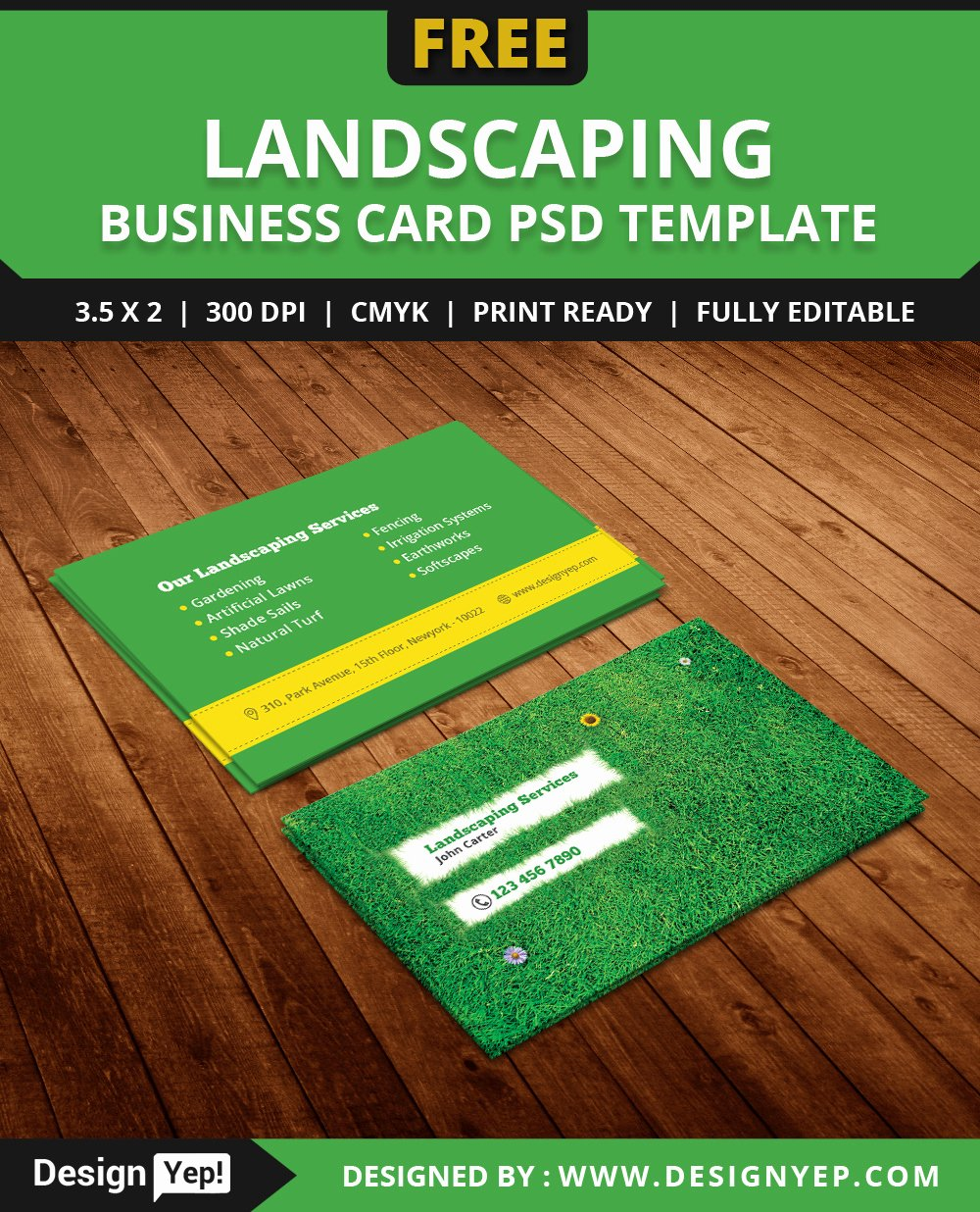 Landscape Business Card Template New Free Landscaping Business Card Template Psd On Behance