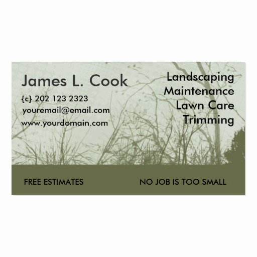 Landscape Business Card Template New Green Landscaping Lawn Care Mowing Business Card Template