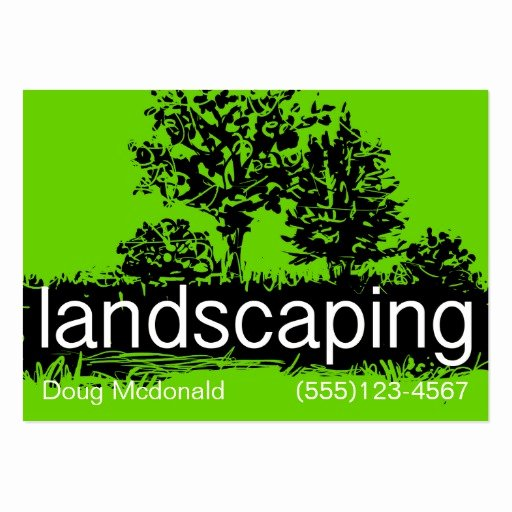 Landscape Business Card Template New Landscaping Business Service Card Template Business Card