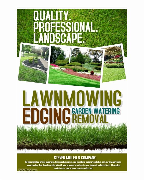 Landscape Flyer Template Free Awesome 16 Landscaping Flyers Free Psd Ai Eps Document