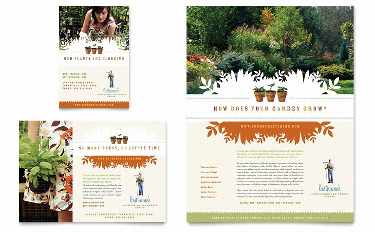 Landscape Flyer Template Free Awesome Landscape & Garden Store Flyer & Ad Template Word