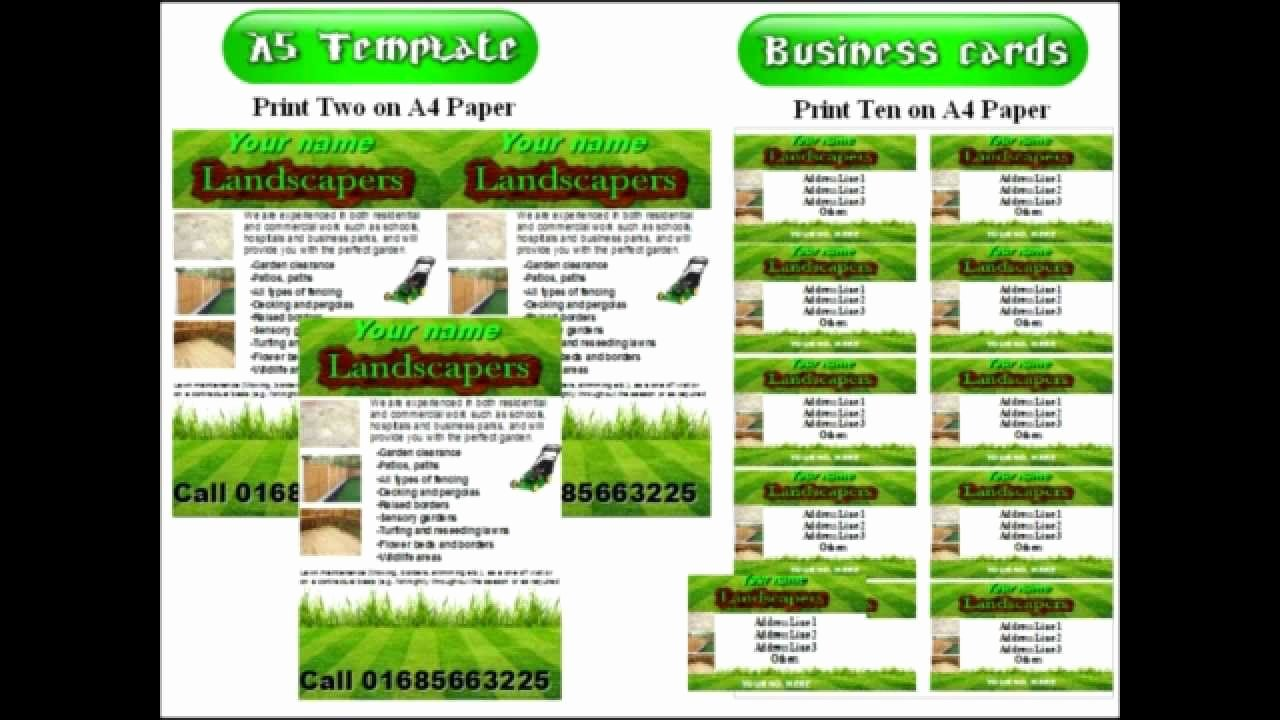 Landscape Flyer Template Free Beautiful Landscape Gardening Leaflets Flyer Template