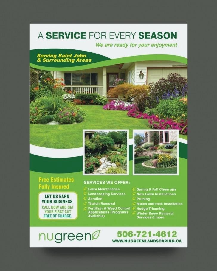 Landscape Flyer Template Free Best Of Landscaping Flyer Design Real Estate Listing Flyer