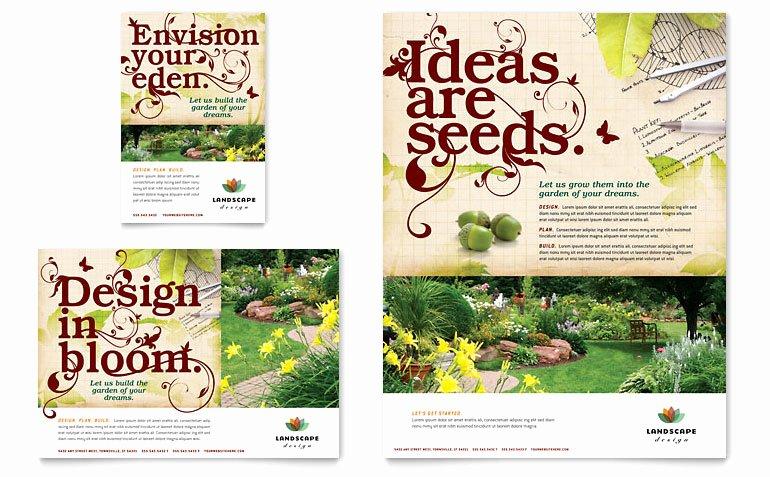 Landscape Flyer Template Free Inspirational Landscape Design Flyer & Ad Template Word & Publisher
