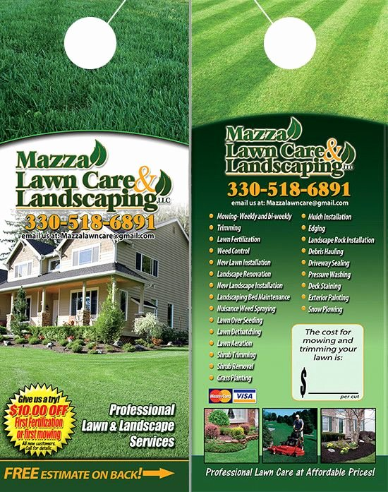 Landscape Flyer Template Free Unique Lawn Care and Landscaping Door Hangers
