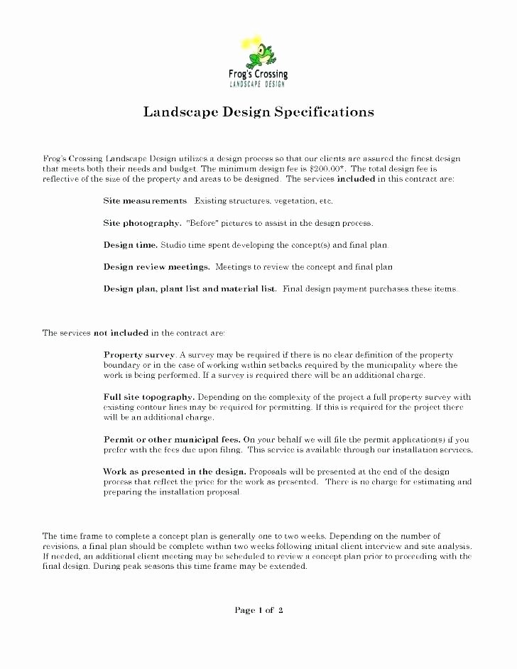 Landscape Installation Contract Template Unique It Consulting Services Agreement Template software