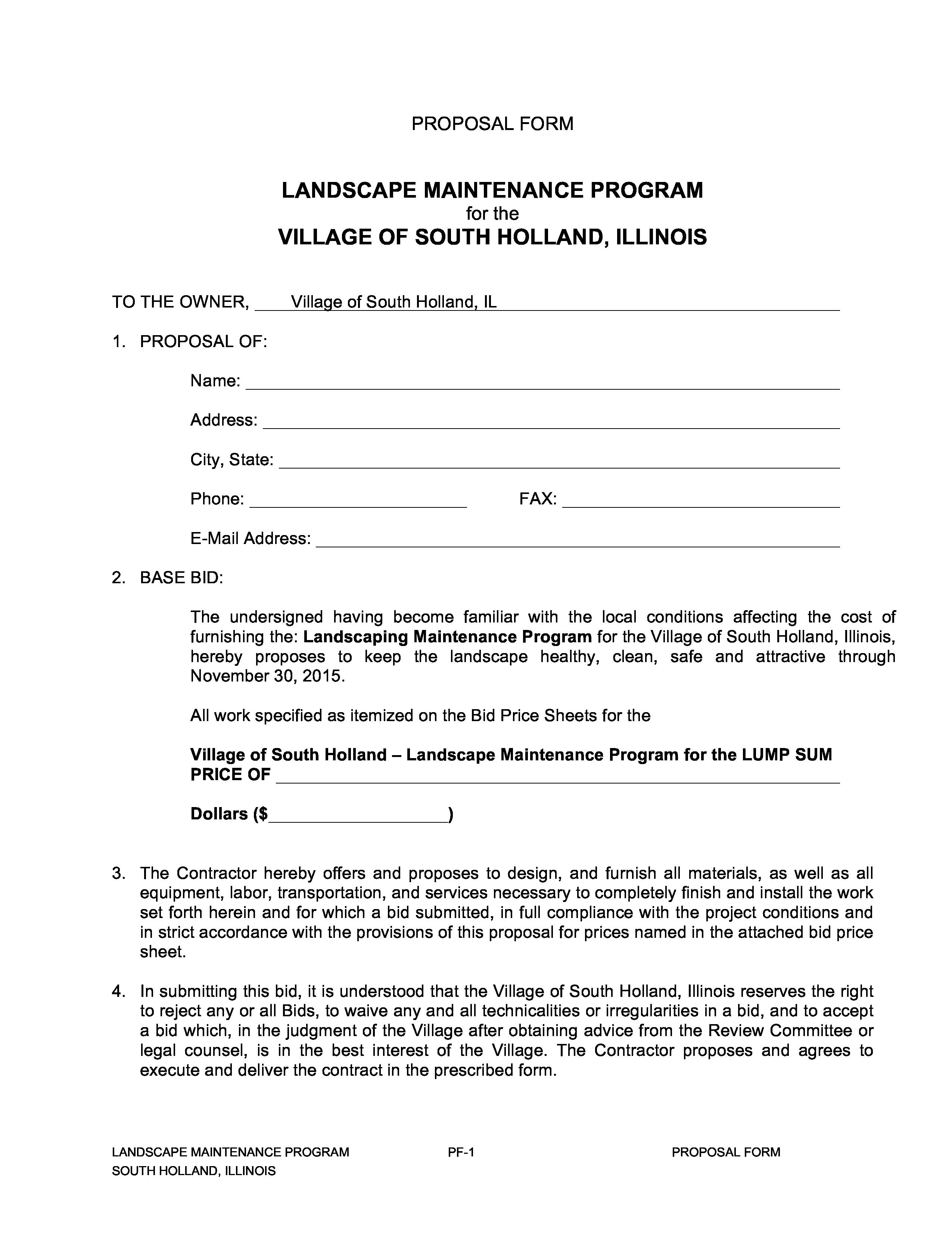Landscape Maintenance Proposal Template Beautiful Landscaping Proposal Template Search Result 96 Cliparts