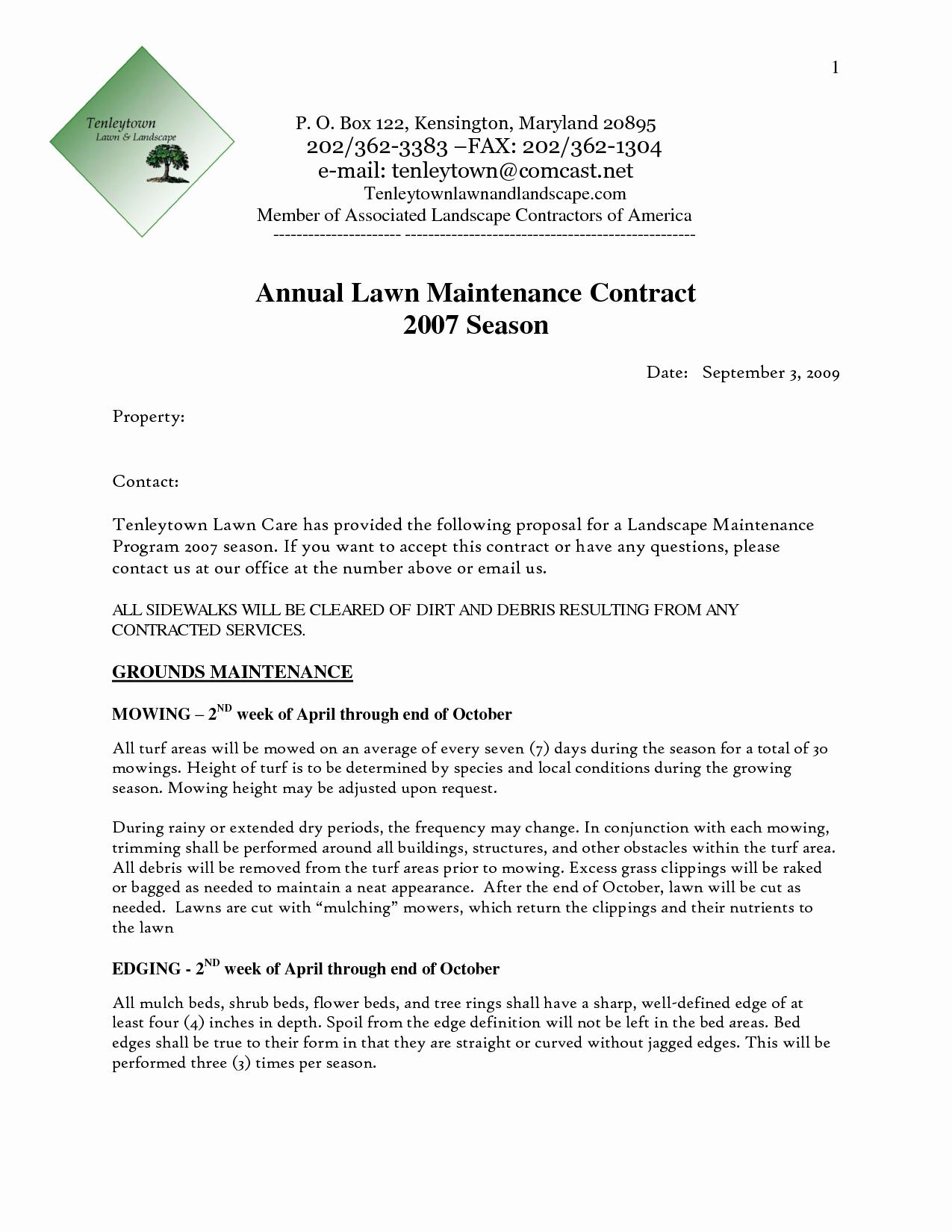 Landscape Maintenance Proposal Template Elegant Landscape Proposal Template Word