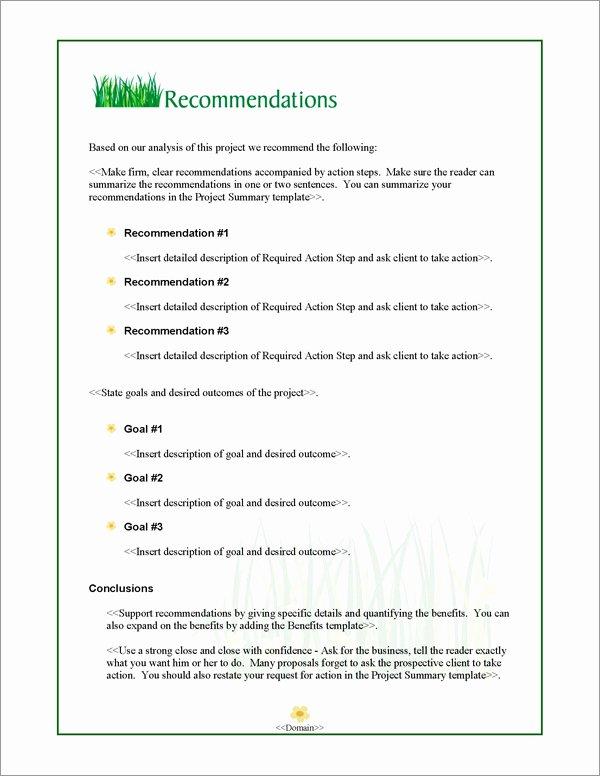 Landscape Maintenance Proposal Template Inspirational Proposal Pack Lawn 1 software Templates Samples