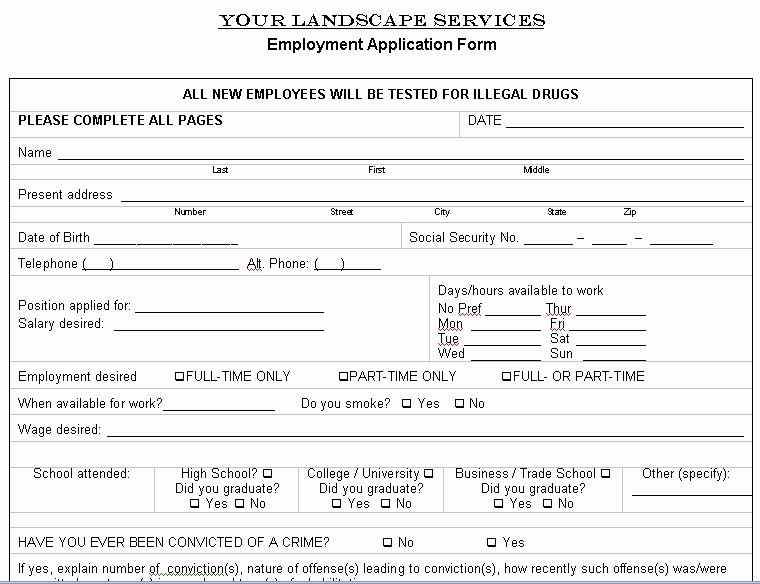 Landscaping Contract Template Free Best Of Free Printable Lawn Service Contract form Generic