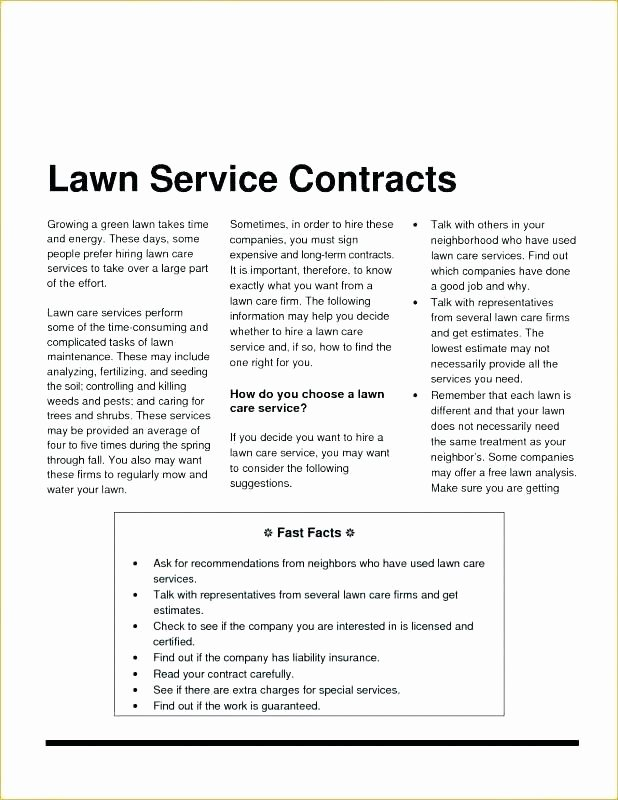 Landscaping Contract Template Free Elegant Landscape Contract Template – Stanmartin