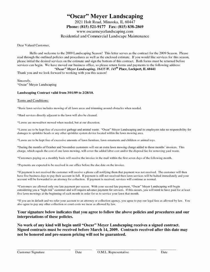 Landscaping Contract Template Free Lovely 25 Unique Contract Agreement Ideas On Pinterest