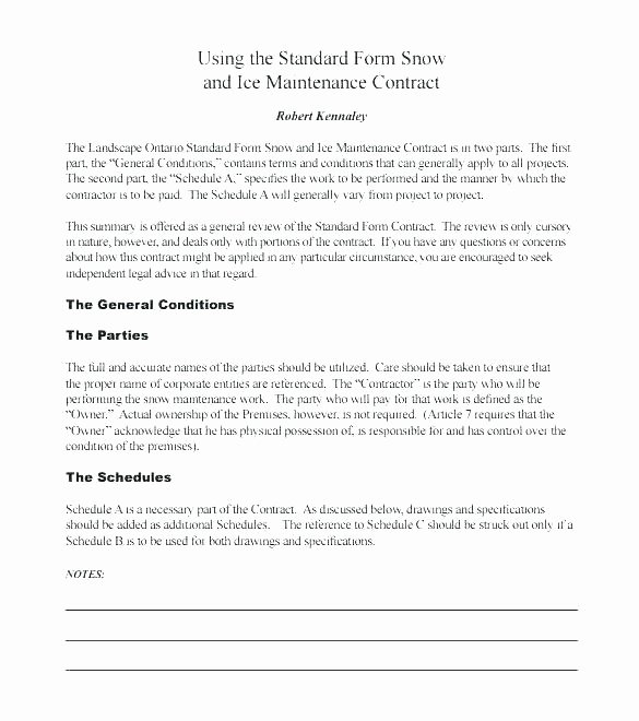 Landscaping Contract Template Free Unique Mercial Landscape Maintenance Contract Template Awesome