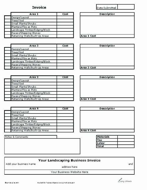 Landscaping Estimate Template Free Inspirational Landscaping Estimate Template 6 Templates Free Word Excel