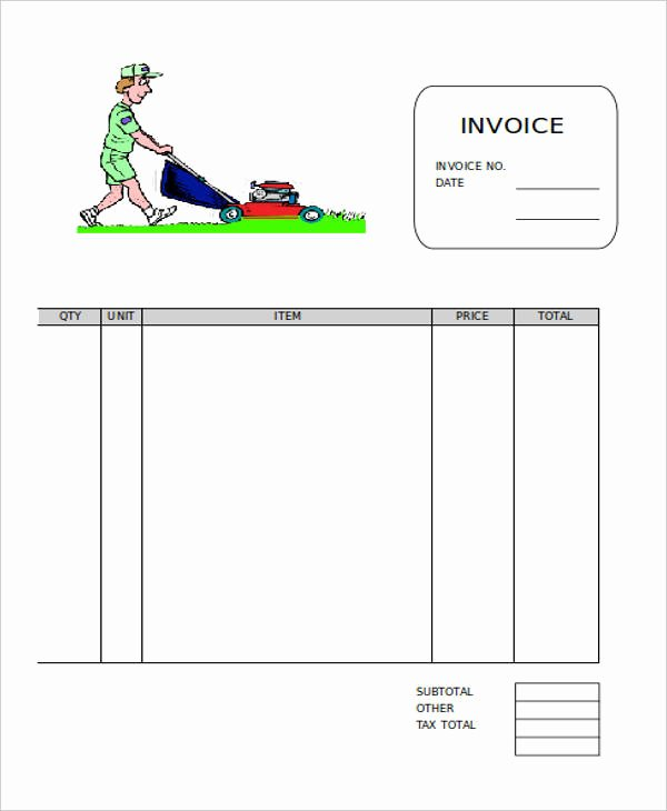 Landscaping Invoice Template Free Best Of 9 Lawn Care Invoice Samples & Templates – Pdf Excel